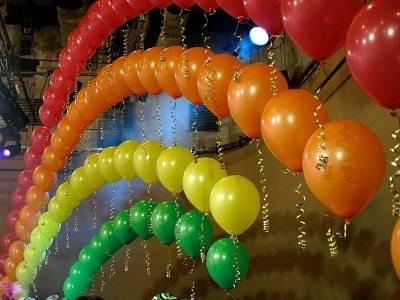 Оформление праздника шариками