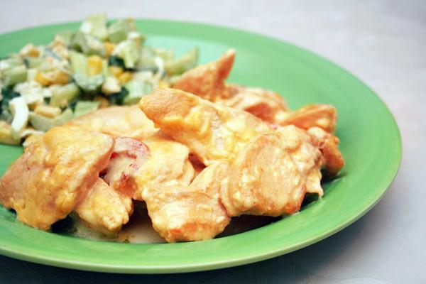Романтическое блюдо: куриная грудка с апельсиновым соусом