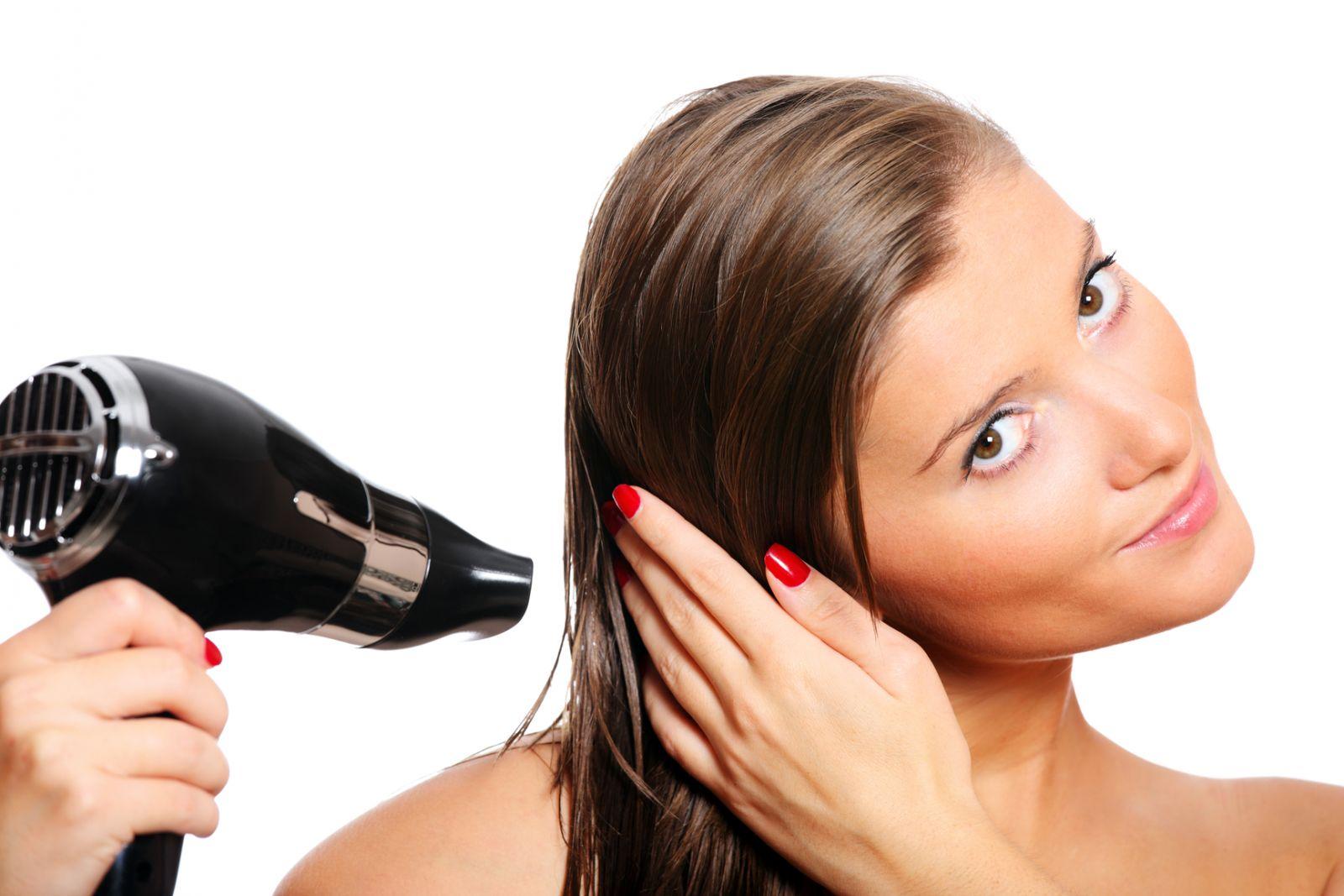 Принцип правильной укладки волос феном