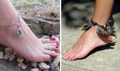 Браслеты на ноги: на грани сексуальности и сакральности