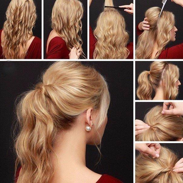 Фото лёгкие причёски на каждый день своими руками на средние волосы